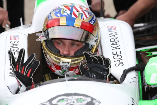 "Sage ""Happy Hands"" Karam is back (Photo Courtesy of IndyCar)"