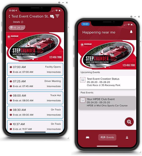 TSS Mobile App view
