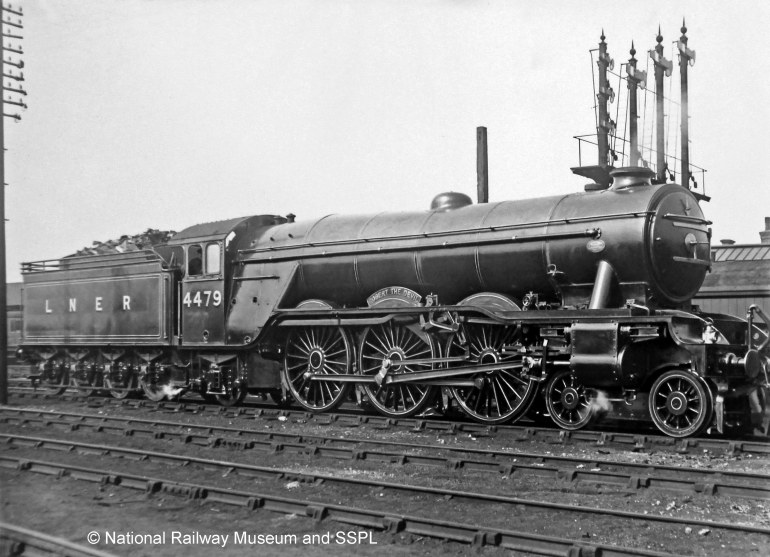 No. 4479 Robert the Devil at Grantham shed in 1930. Photograph by Rev. A. C. Cawston.