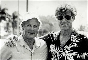 Peter Handford with Robert Redford during the making of his final feature film, Havana in 1989-90, on location in the Dominican Republic. News-graphics-2007-_653681a