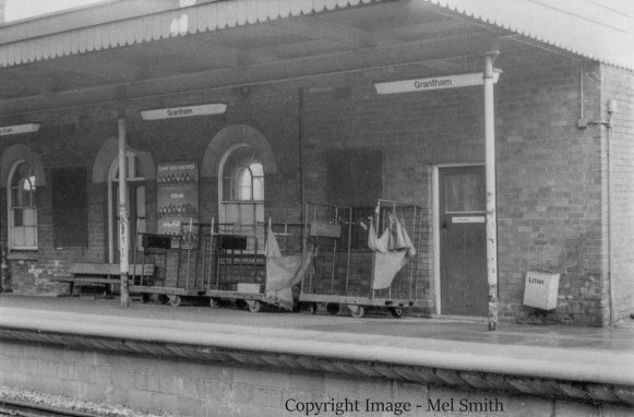 A view across to platform 2 from platform 1. This building was formerly the down side Refreshment Room which closed in the 1960s. Copyright Image - Mel Smith