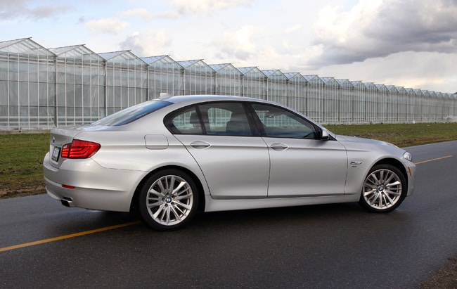 2011 BMW 550i xDrive Review rear
