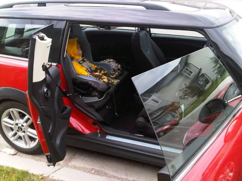 2011 MINI Cooper Clubman Review doors open