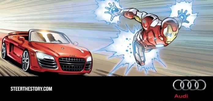 audi and marvel steer the story