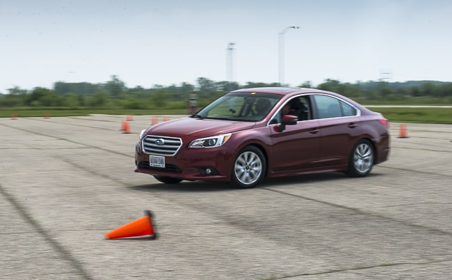2015 Subaru Legacy review red front