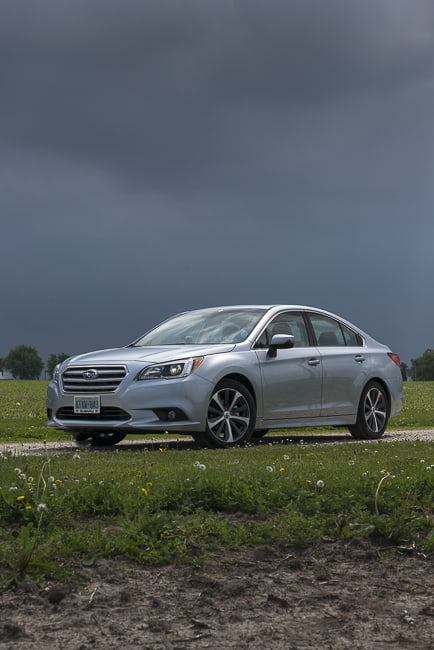 2015 Subaru Legacy review front silver