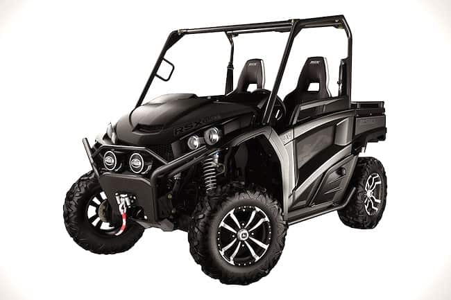 John Deere Midnight Black Special Edition Gator front view