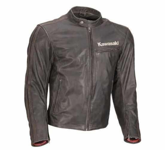 Kawasaki Asphalt S Leather Jacket front
