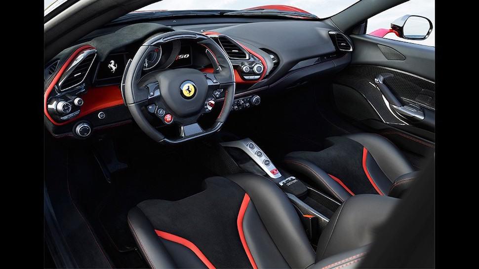 Ferrari J50 cockpit