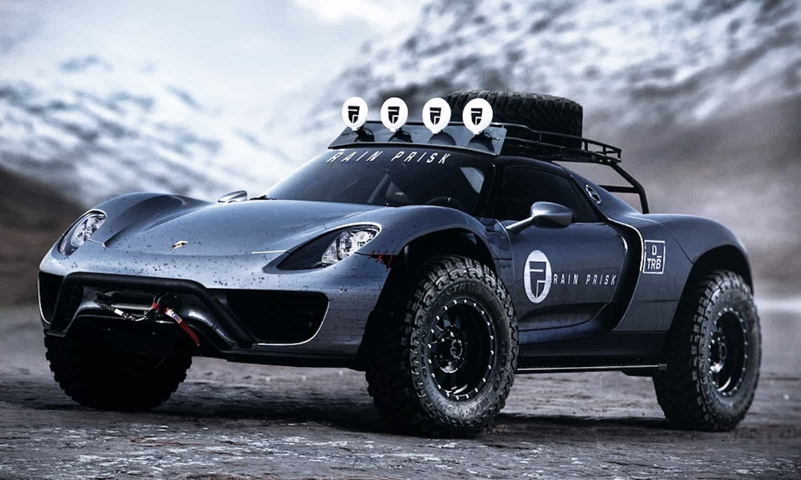 a 608 horsepower porsche 918 spyder off road concept. Black Bedroom Furniture Sets. Home Design Ideas