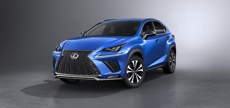 2018 lexus nx blue front