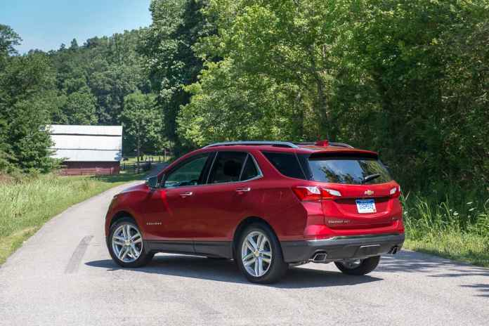 2018 chevy equinox 2.0l turbo review rear view amee reehal