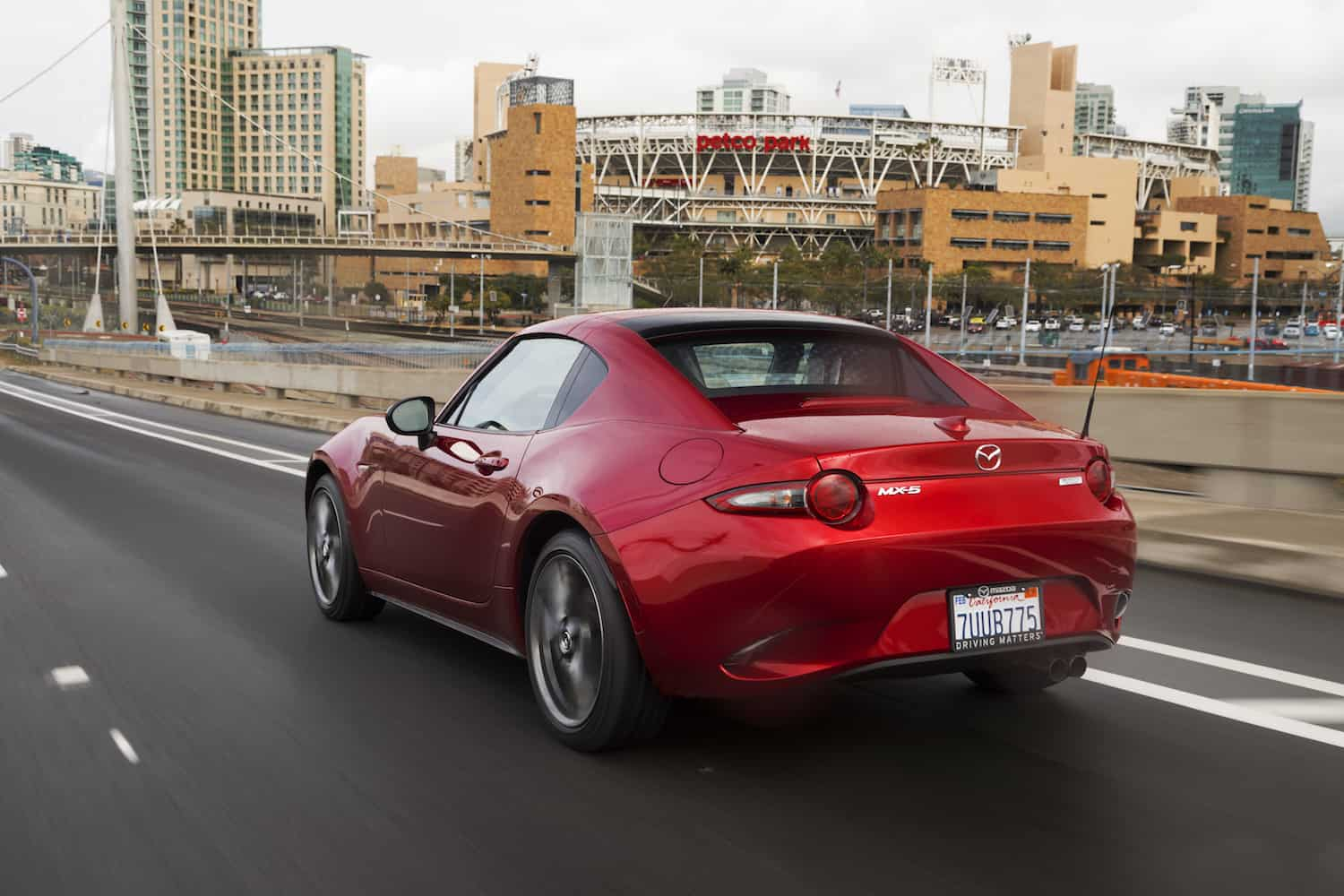 2017 Mazda MX-5 RF rear rolling red