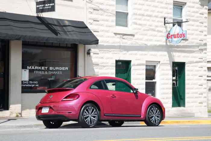 2017 VW Beetle Pink Edition Review rear static