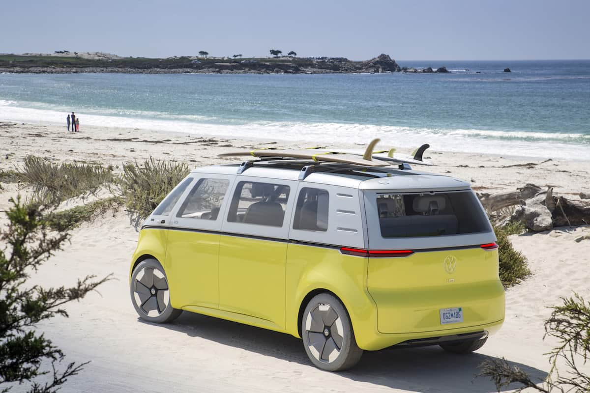 volkswagen I.D. BUZZ electric concept rear