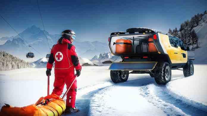 Surgo Mountain Rescue Vehicle rear