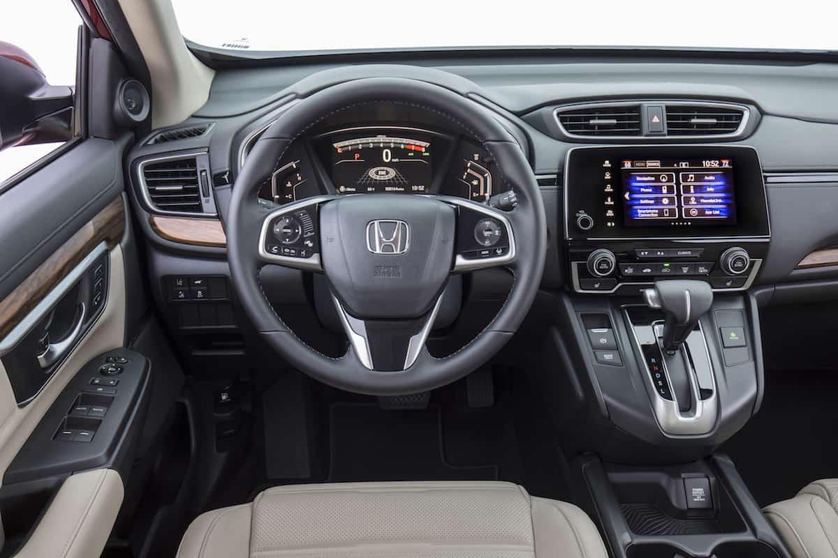 2017 Honda CR-V touring review interior
