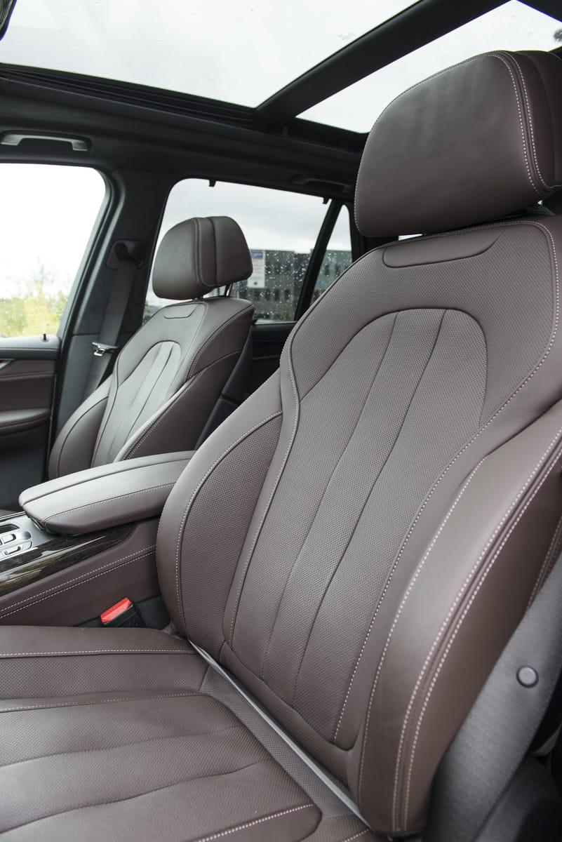 2017 BMW X5 xDrive40e iPerformance review seats