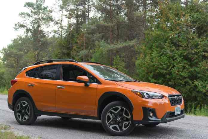 2018 subaru crosstrek review front view orange