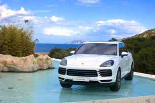 2019 porsche cayenne review first drive white front