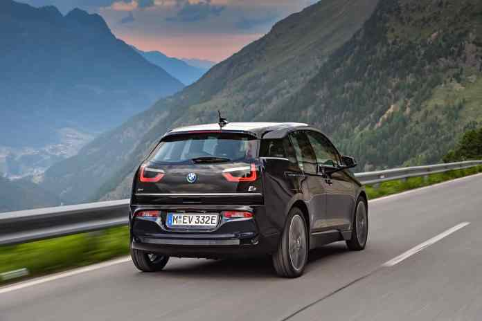 2017 BMW i3 Review blue rear rolling