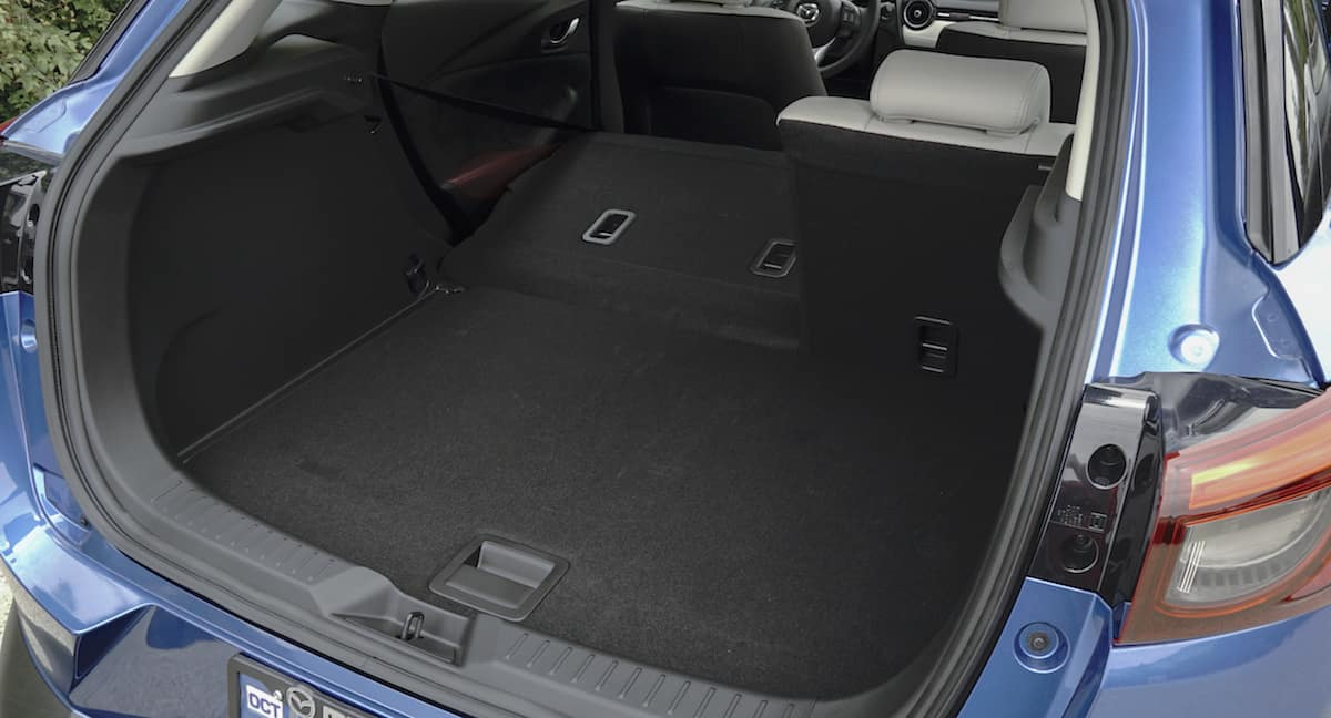 2018 mazda cx-3 review rear cargo seats down