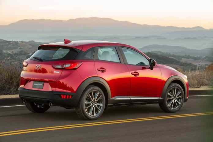 2018 mazda cx-3 review red rear view