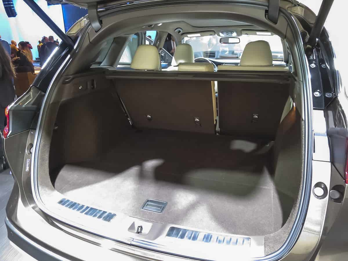 2019 infiniti qx50 rear cargo
