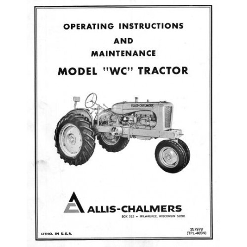 Allis-Chalmers WC Operators Manual