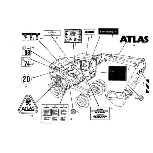 Atlas 1304 Serie 137 Parts Manual