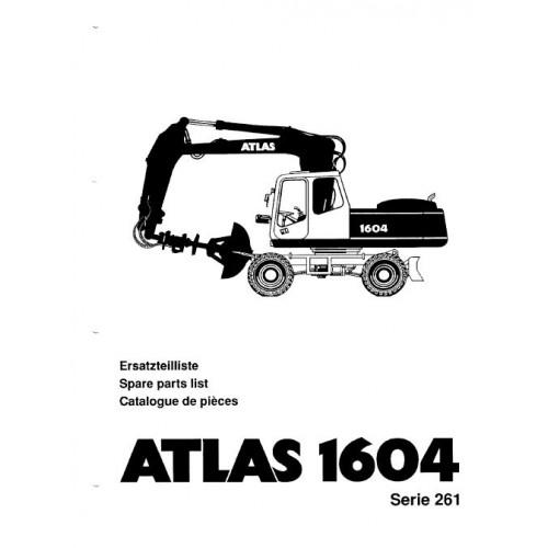 Atlas 1604 Serie 261 Parts Manual