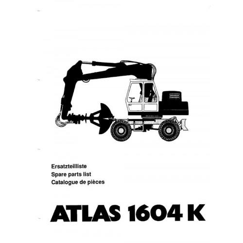 Atlas 1604 K Parts Manual