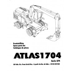 Atlas 1704 Serie 374 Parts Manual