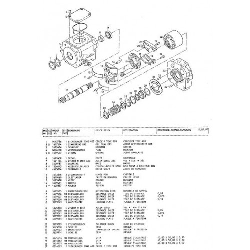 Atlas 1204 R Serie 125 Parts Manual
