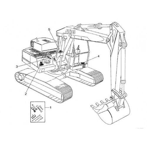 Atlas 1304 R Serie 136 Parts Manual