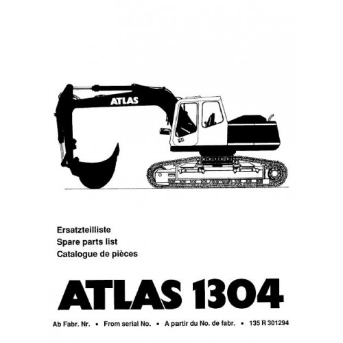 Atlas 1304 R Serie 135 Parts Manual