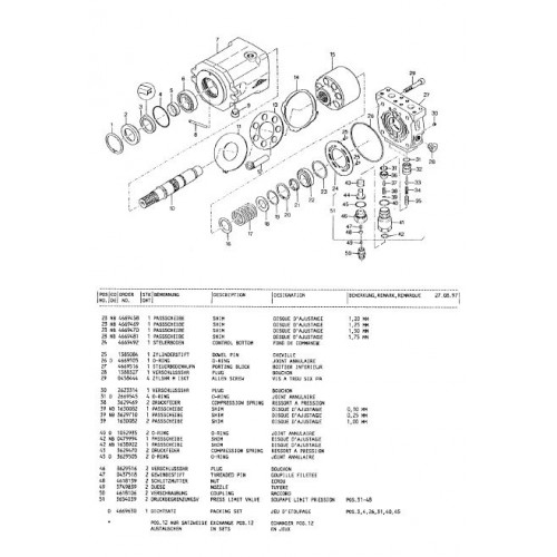 Atlas 1504 R Serie 150 Parts Manual