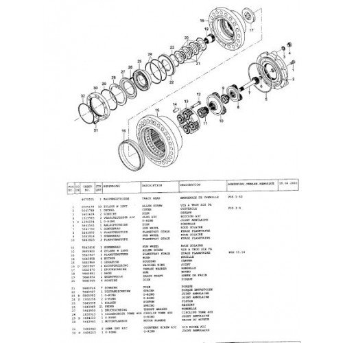 Atlas 1604 R Serie 261 Parts Manual