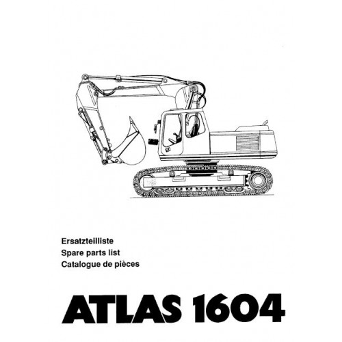 Atlas 1604 R Serie 166 Parts Manual