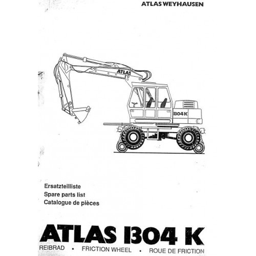 Atlas AB 1304 K Friction Wheel Parts Manual