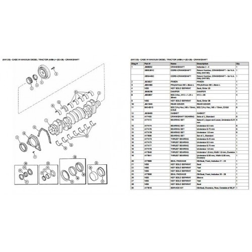 Case IH MX120 Maxxum Parts Manual