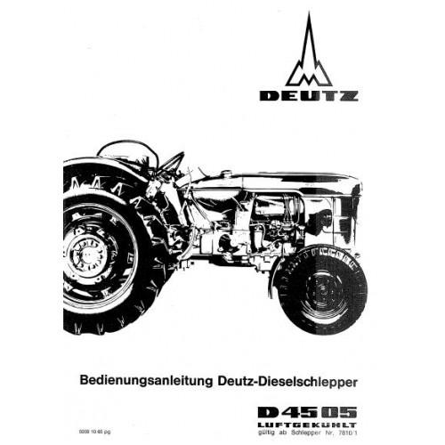 Deutz D4505 Operators Manual