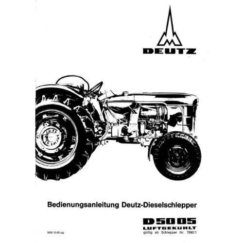Deutz D5005 Operators Manual