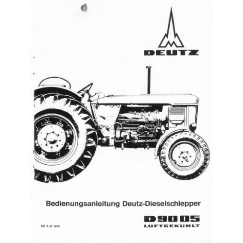 Deutz D9005 Operators Manual