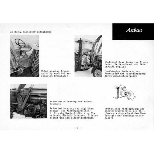 Deutz Front Loader Operating Manual
