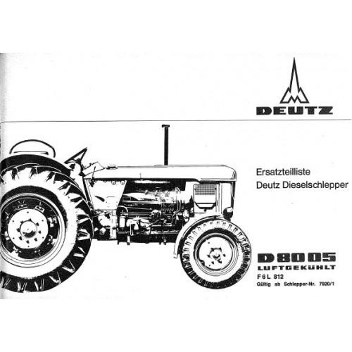 Deutz D8005 Parts Manual