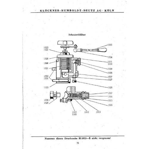 Deutz F2L514 Parts Manual