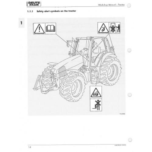 Deutz Fahr Agrotron Tractors Service Manual 4.70 4.85 4.90