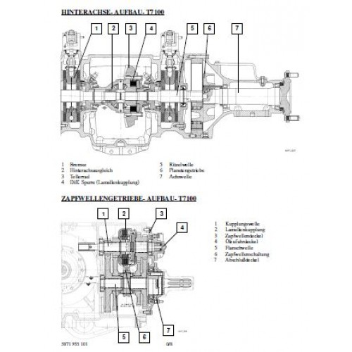 Deutz Fahr ZF Rear Axle T-7100 Workshop Manual