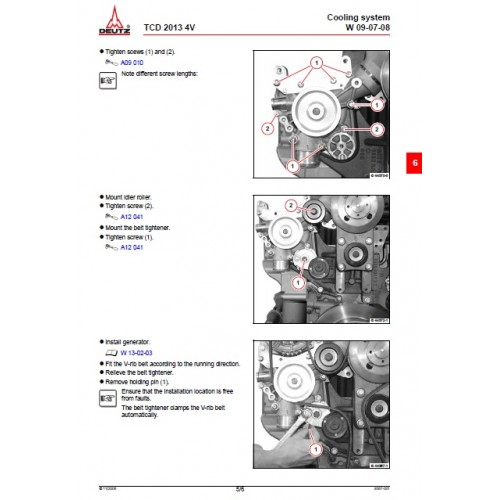 Deutz Fahr Diesel Engine TCD 2013 4V Workshop Manual